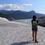 Sola in Alaska ghiacciaio