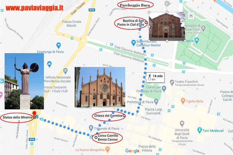 cosa vedere a Pavia: statua della Minerva