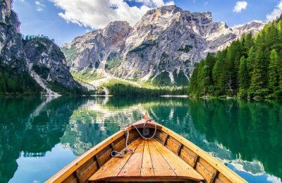 lago di braies panorama