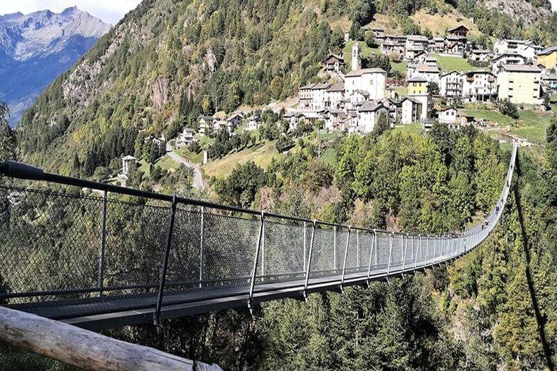 Ponti tibetani in Italia val tartano